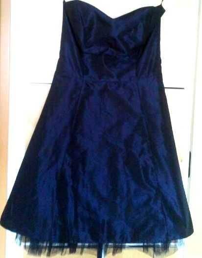 Fred Sun Paris Wundervolles Franzosisches Abendkleid Abiballkleid Dunkelblau Kleiderkorb De