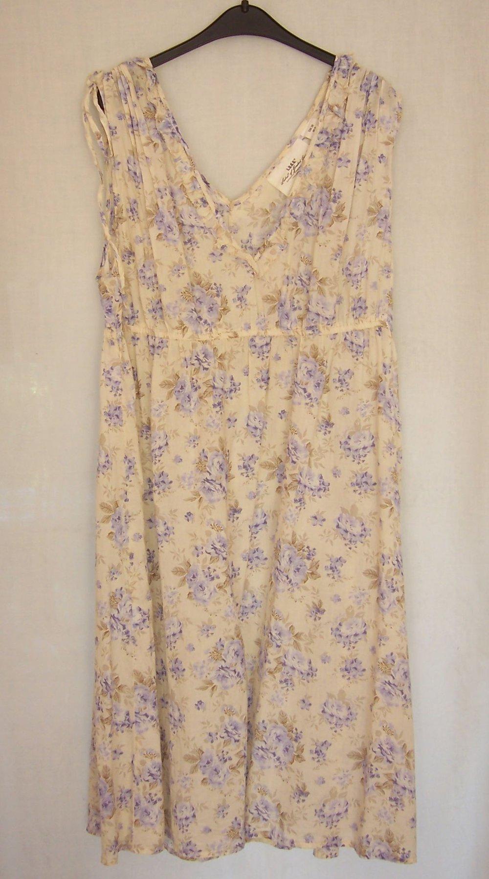 38 Süßes Babydoll Kleid Sommerkleid Strandkleid Trägerkleid blau weiß Gr
