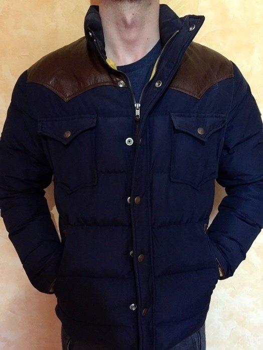 the best attitude 25641 254f8 Penfield Trailwear Winterjacke blau Navy Größe S mit braunem Leder