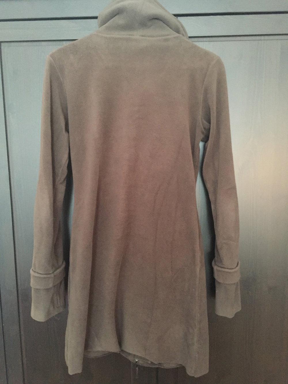 Brauner fleece mantel