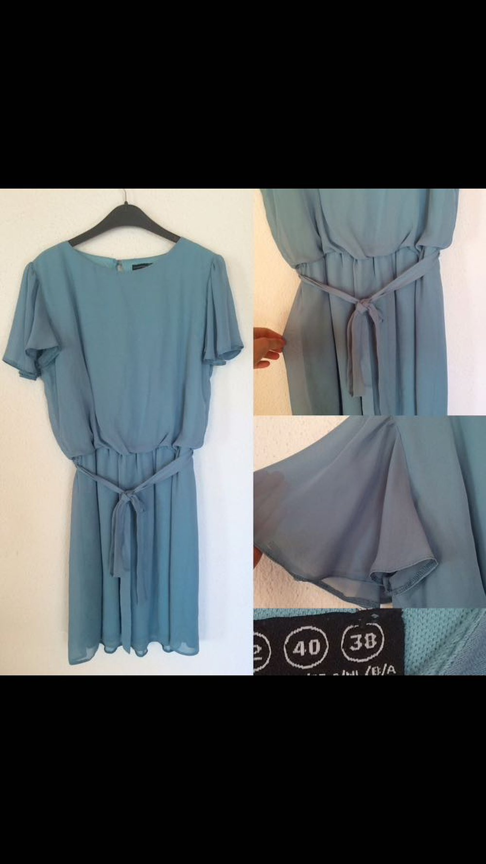 mintfarbenes kleid gr 38. Black Bedroom Furniture Sets. Home Design Ideas