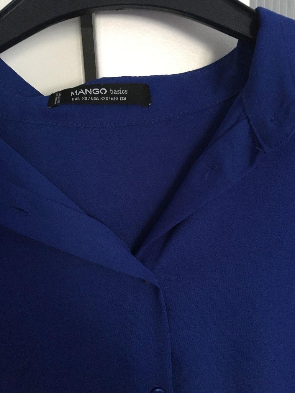 8d7995f08b29 Mango Collection - Mango Bluse Königsblau    Kleiderkorb.de