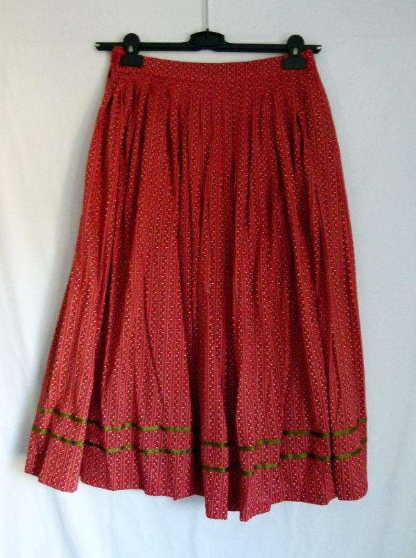 ... Folklore Kostüm Kombination Rock mit Jacke, rot waldgrün floral,  Landhaus Trachten Mori Retro Vintage ... 14584be620