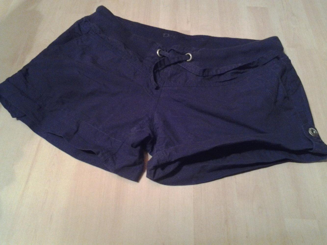 Blaue Stoff- Shorts mit Gummibund und verstellbaren Beinlängen von Orsay in Größe  38 ... ed7760f6aa