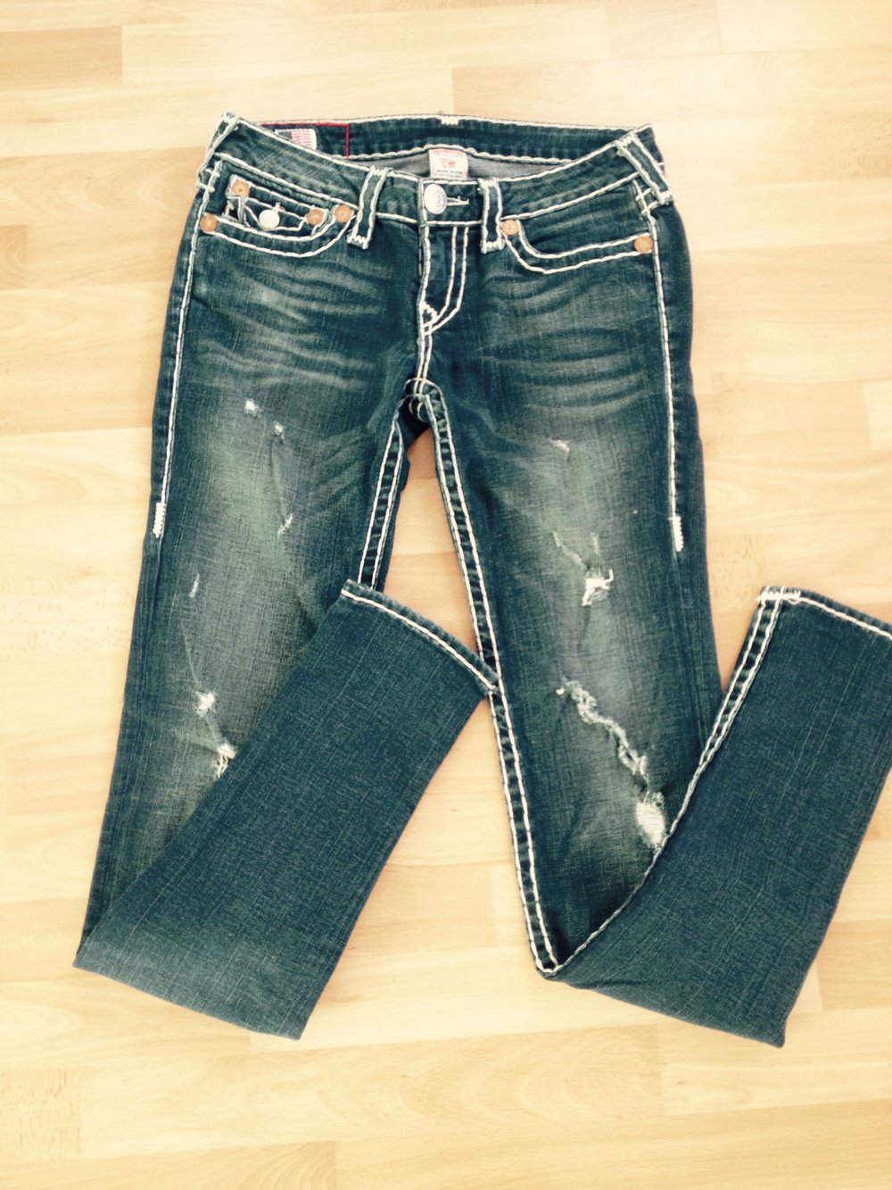 truereligion true religion design jeanshose used look. Black Bedroom Furniture Sets. Home Design Ideas