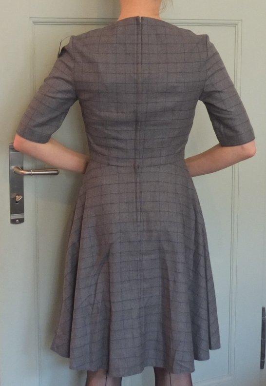 Grau Blau Kariertes Kleid Von Orsay 50 Er Jahre Vintage Preppy Business Kleiderkorb De