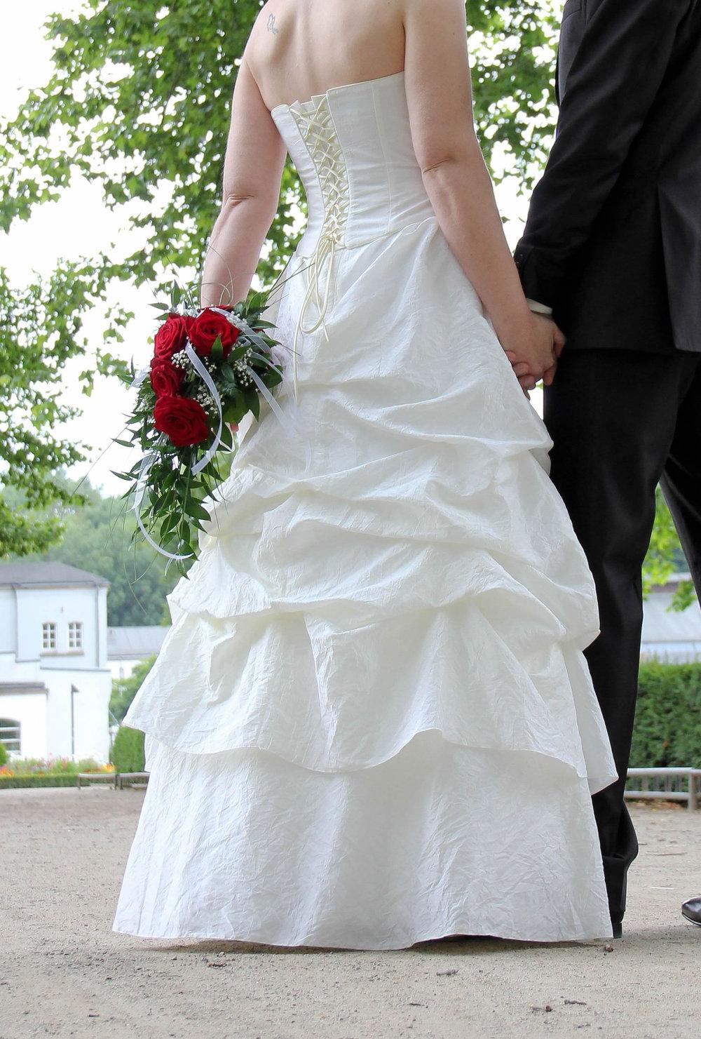 Brautkleid 36 in creme | 4-Teilig: Rock, Corsage, Bolero und ...
