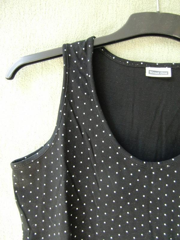 9517a3c2f481bf Schwarzes Top mit weißen Punkten, Street One, Gr.40-42 :: Kleiderkorb.de