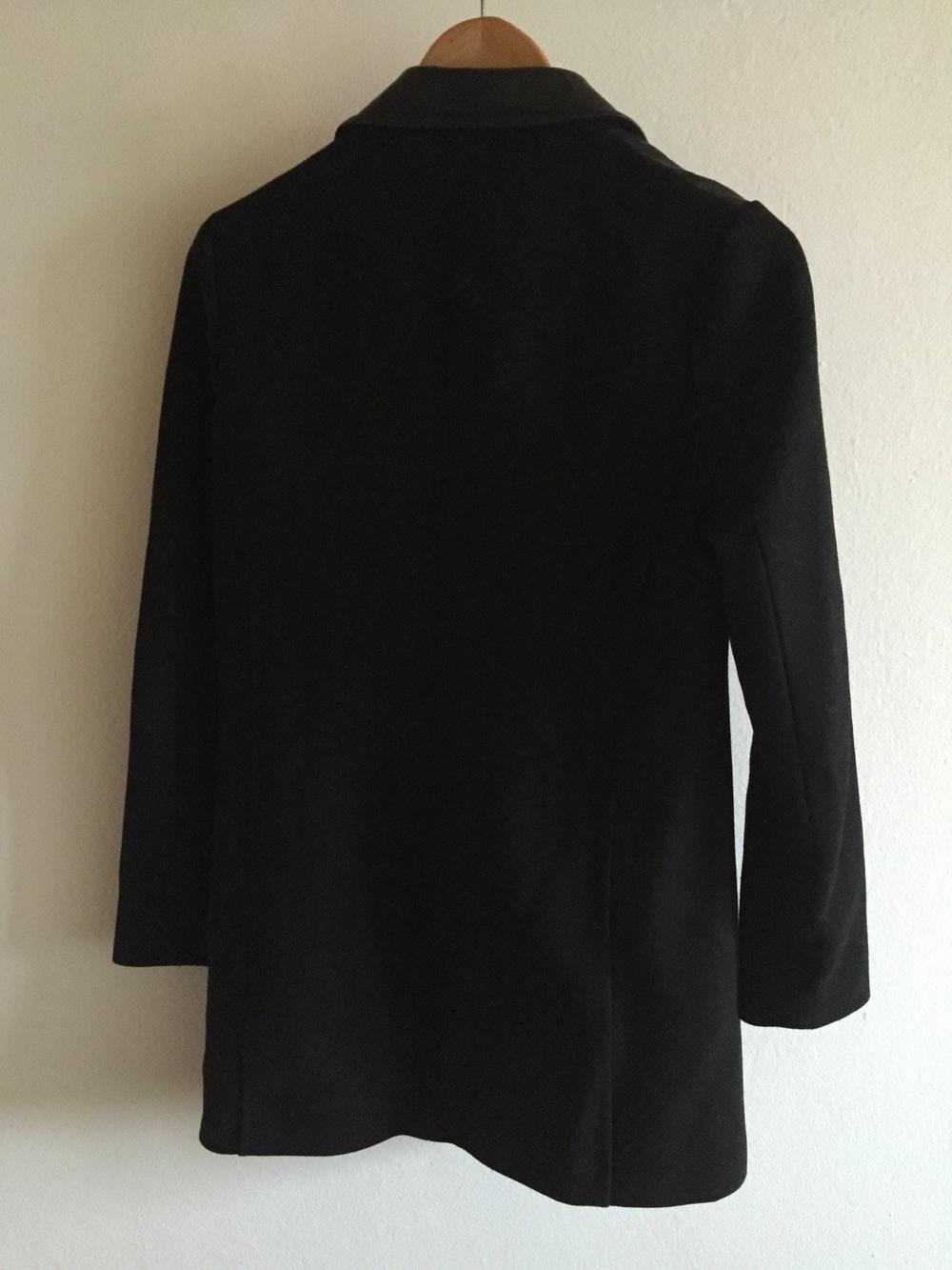Pimkie schwarzer langer wintermantel - Schwarzer langer mantel ...