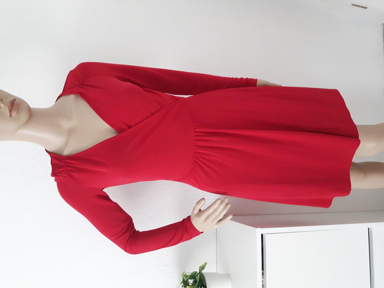 promod kleid rot festlich stretch knielang chic. Black Bedroom Furniture Sets. Home Design Ideas