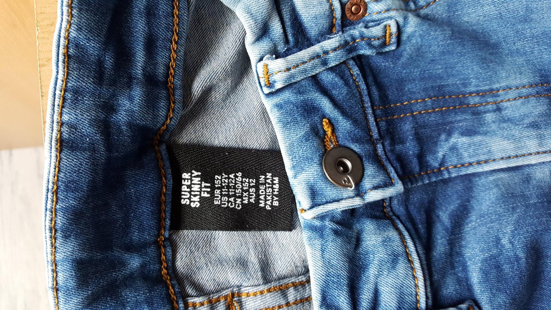 425 neue jeans von h m gr 152 11 12 jahren super skinny fit. Black Bedroom Furniture Sets. Home Design Ideas