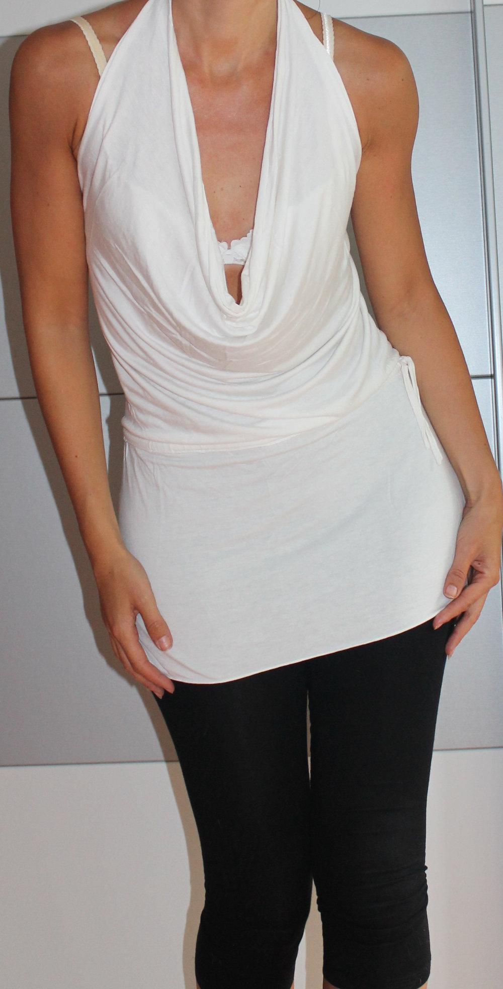 süßes, schickes Neckholder Kleid   Oberteil in weiß    Kleiderkorb.de 23f971adc5