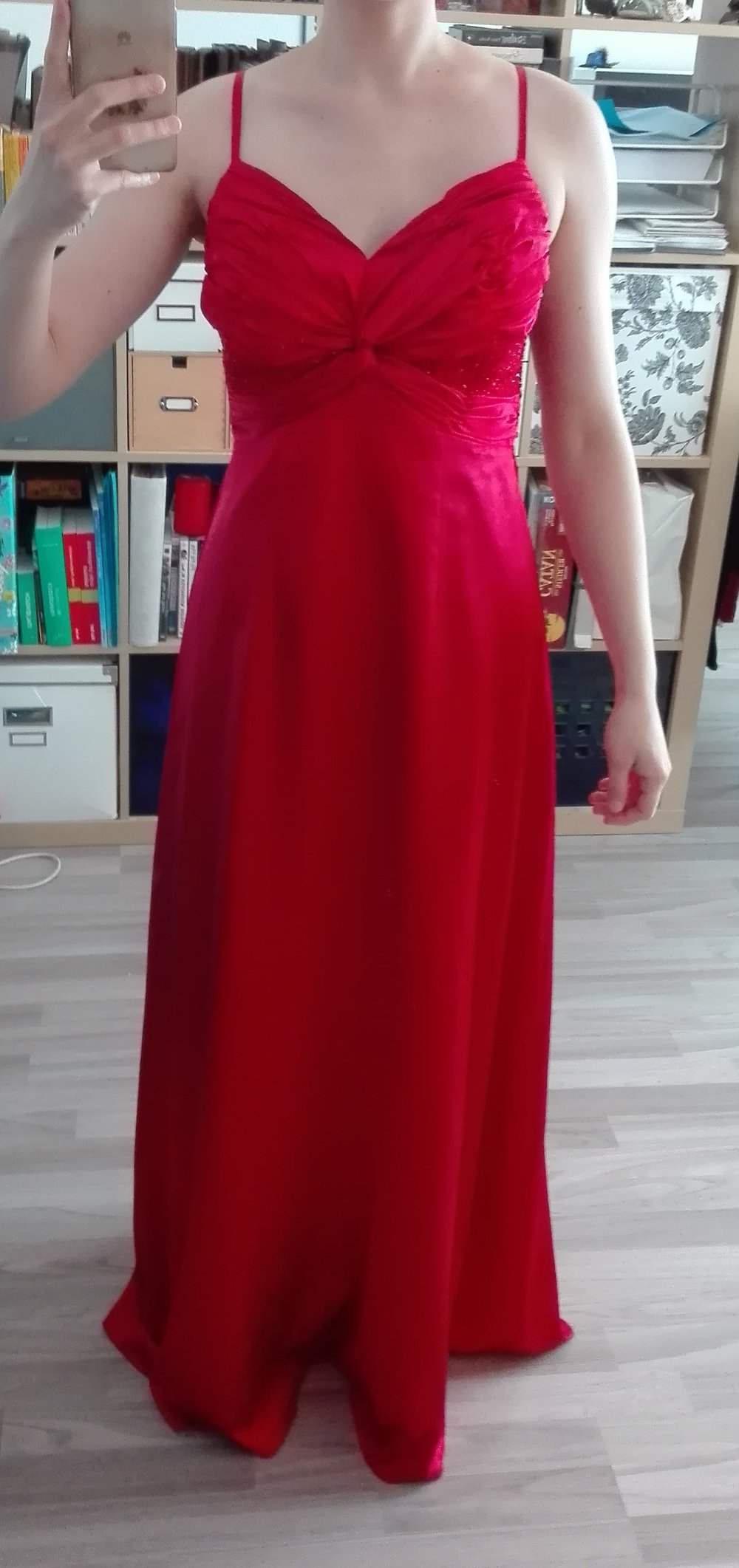 Traumhaftes rotes Abendkleid