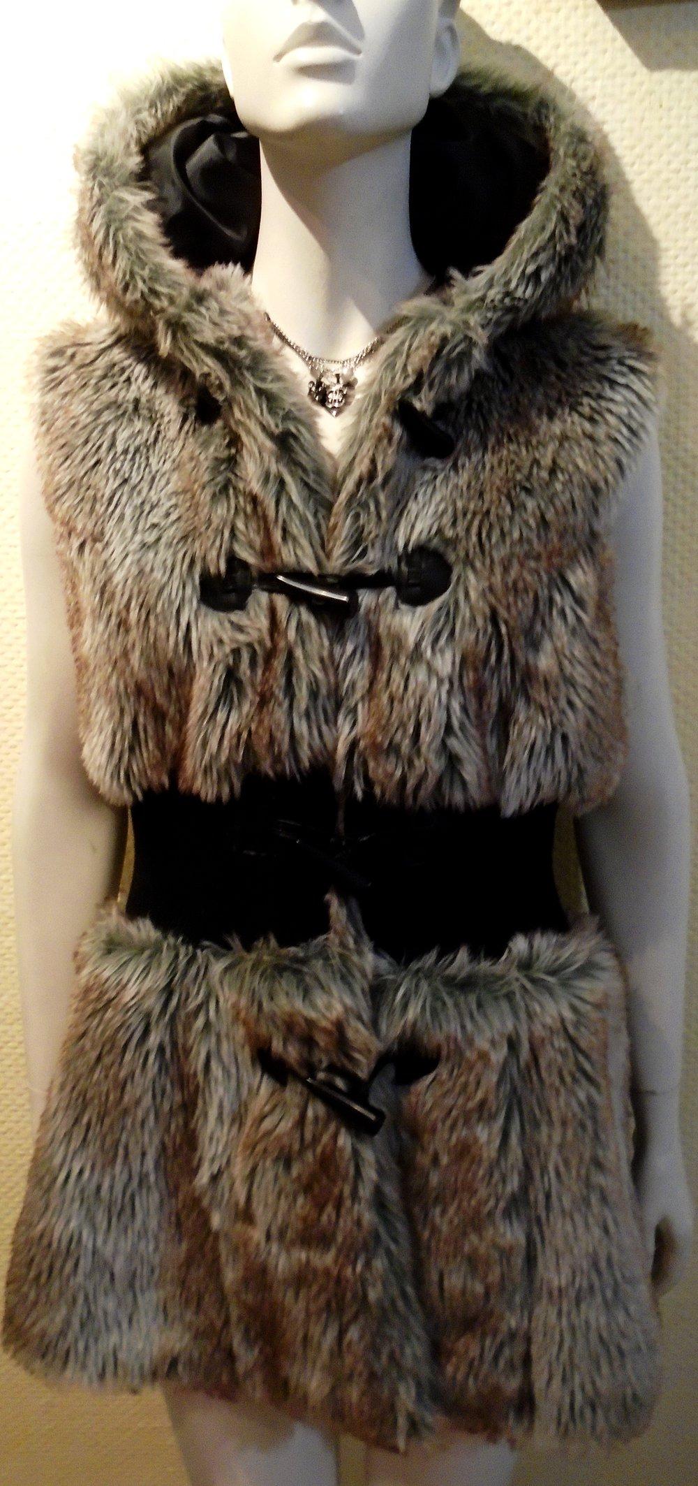 crazy world stylische fell jacke fake fur gr 44. Black Bedroom Furniture Sets. Home Design Ideas