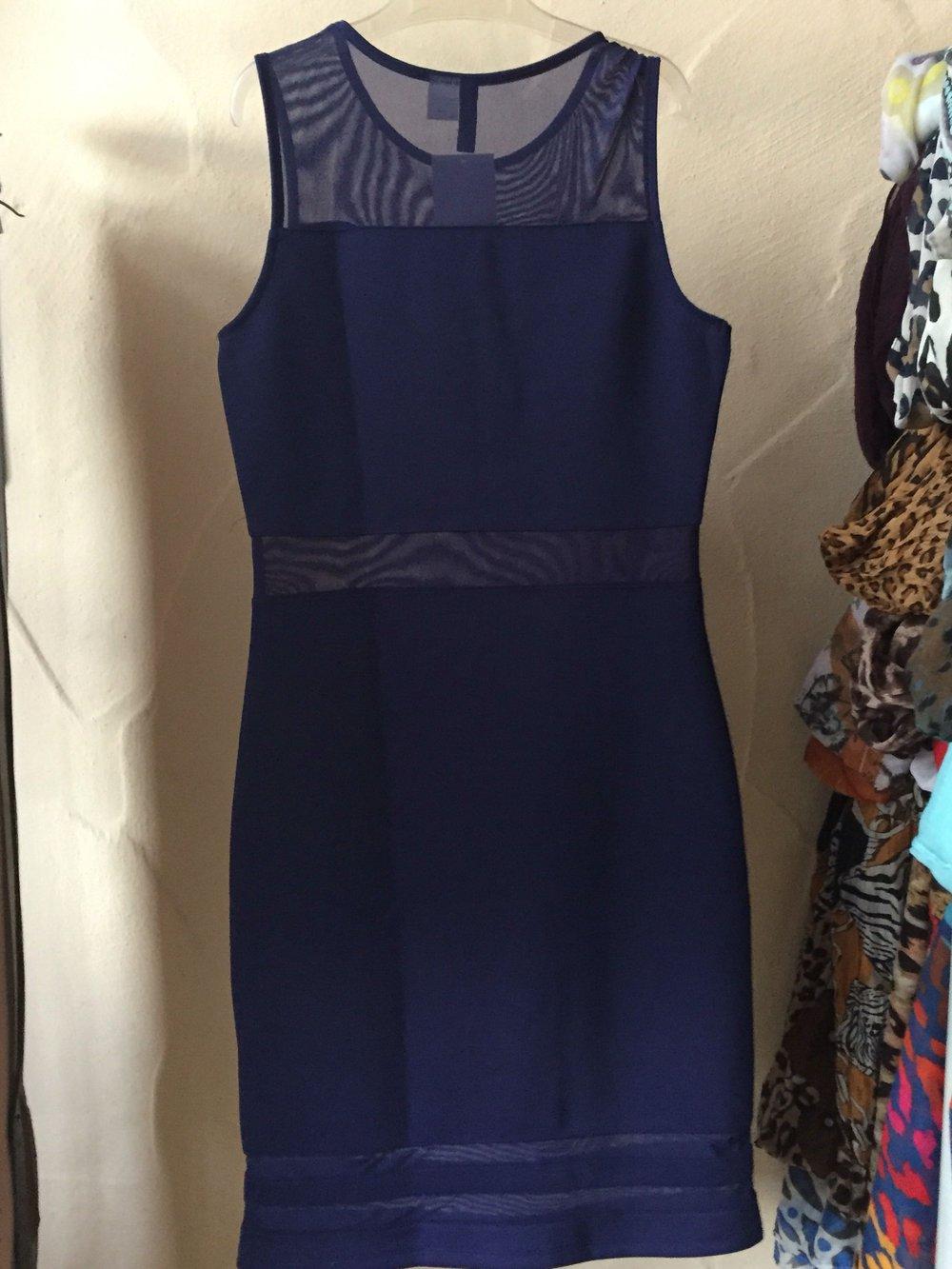 mit Streifen durchsichtigen Blaues Kleid H amp;M hdBtroCxsQ