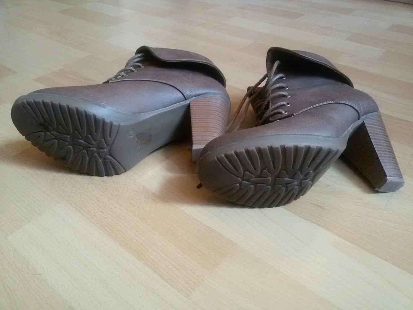 Mode Queen Schuhe Stiefeletten Braun Gr 40 Kleiderkorb De