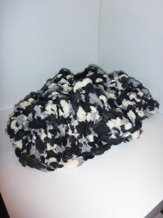 schlauchschal tuch schal meliert schwarz wei. Black Bedroom Furniture Sets. Home Design Ideas