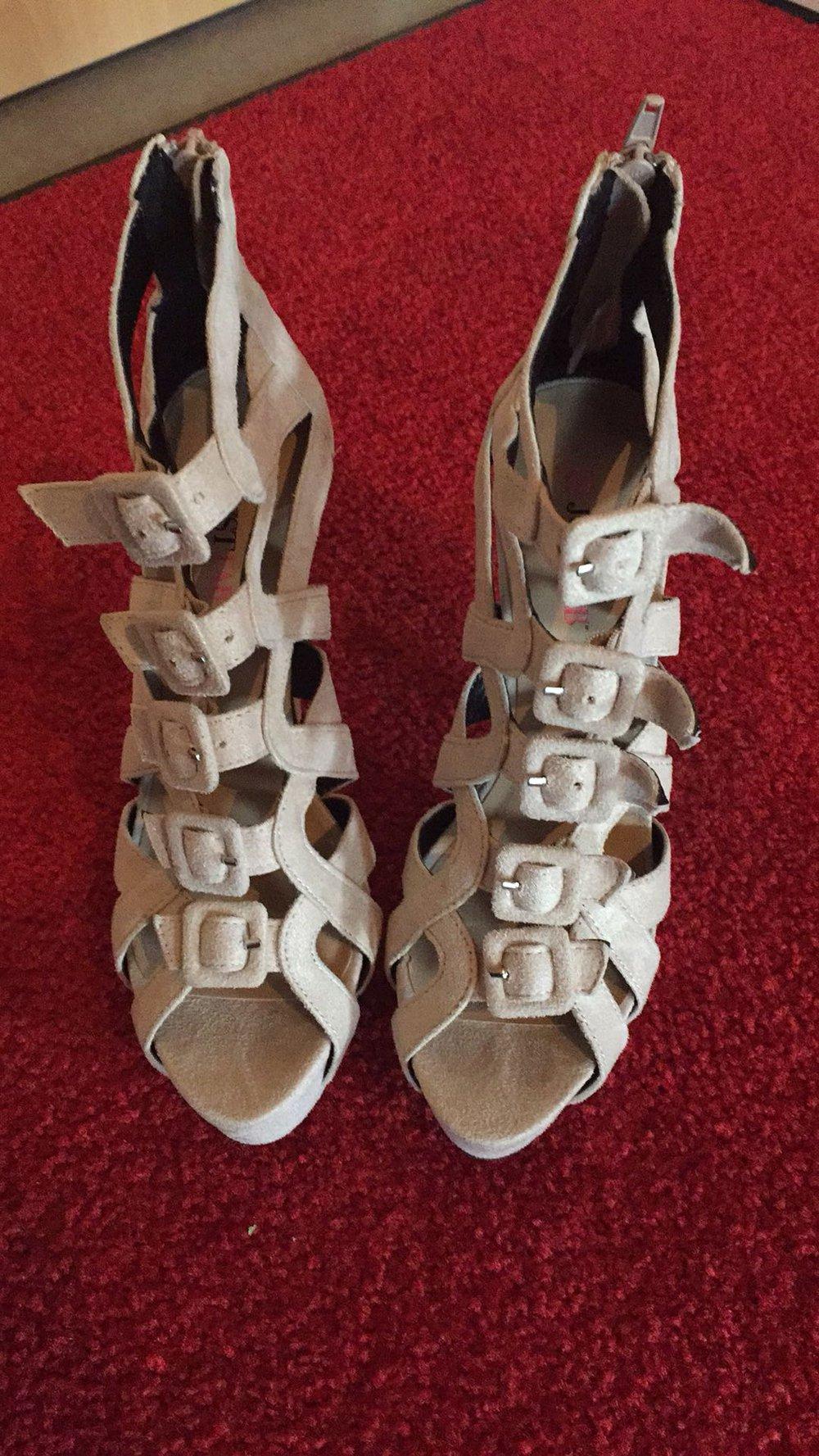 High Heels, ungetragen JustFab, Grösse:38, Farbe: beige