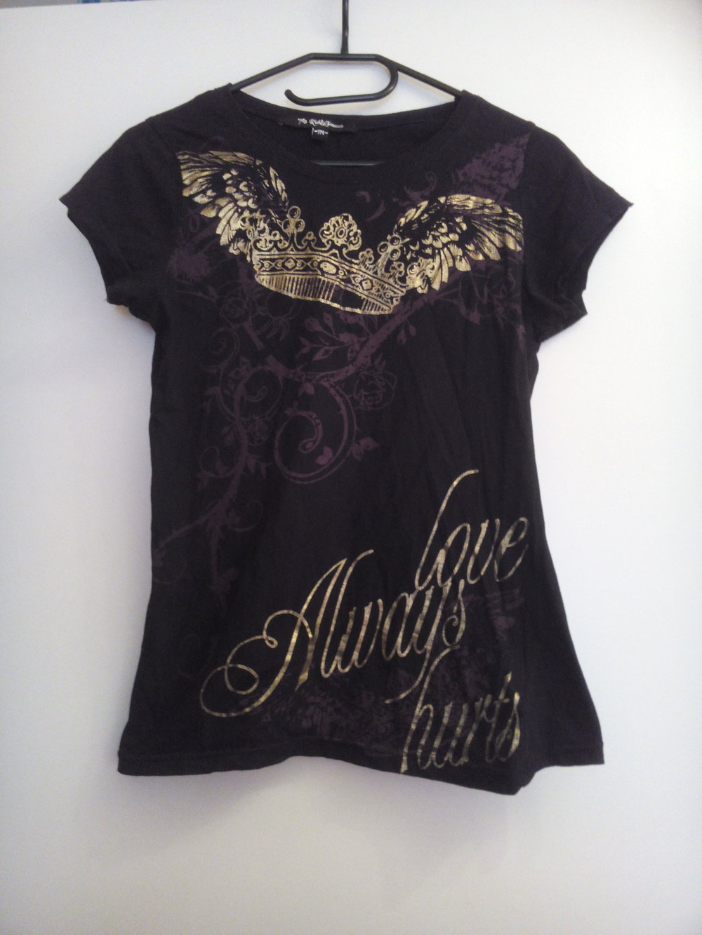 rich famous schwarzes t shirt mit goldprint. Black Bedroom Furniture Sets. Home Design Ideas