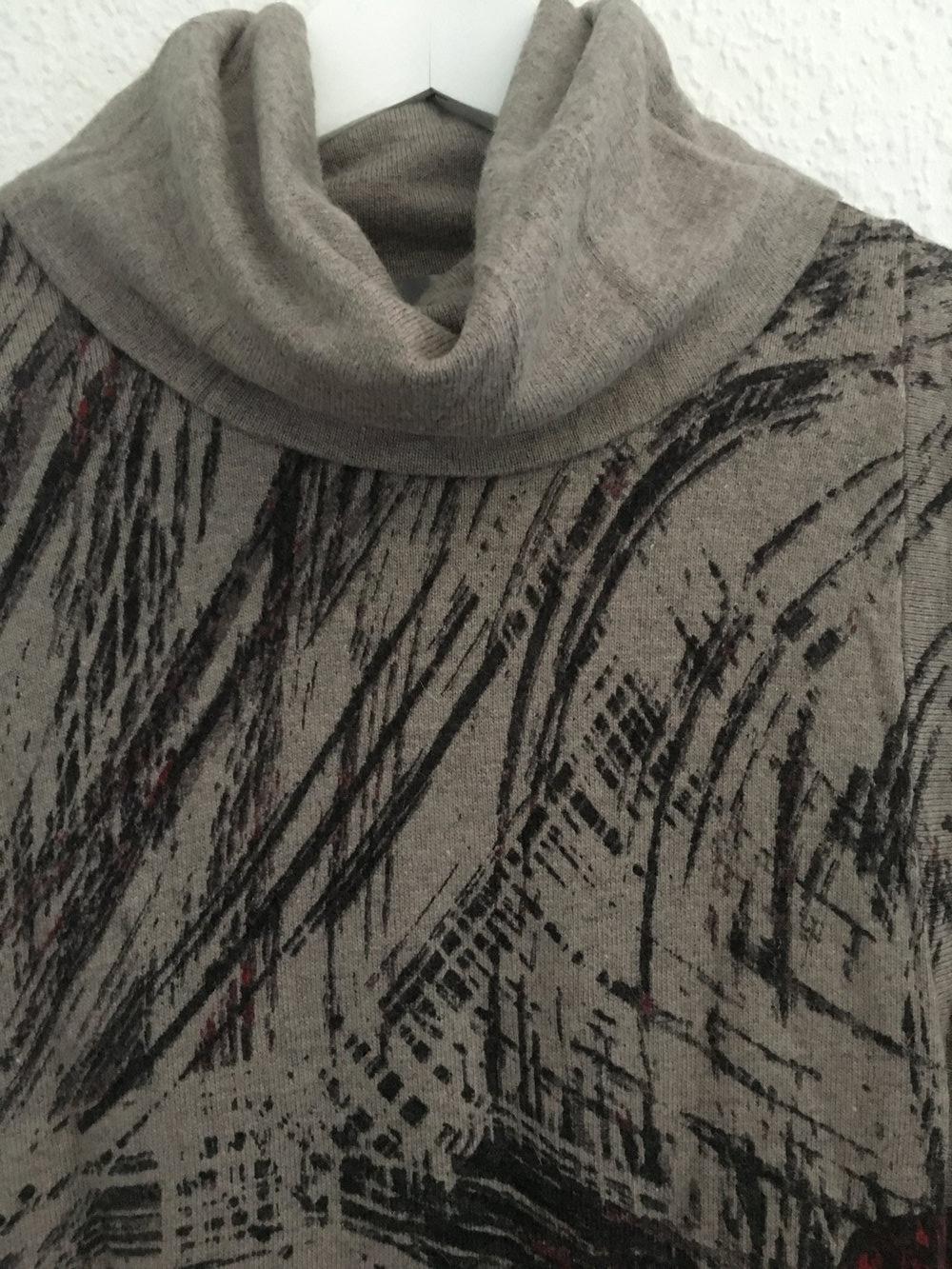 0224763fde ... Warmes Pullover (-kleid) mit Rollkragen, Größe 36, warm, beige, ...