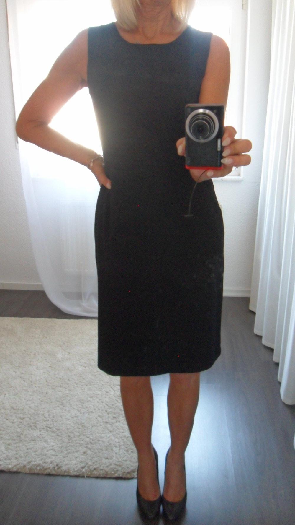 schwarzes schlichtes businesskleid etuikleid von orsay in gr 40 wie neu. Black Bedroom Furniture Sets. Home Design Ideas