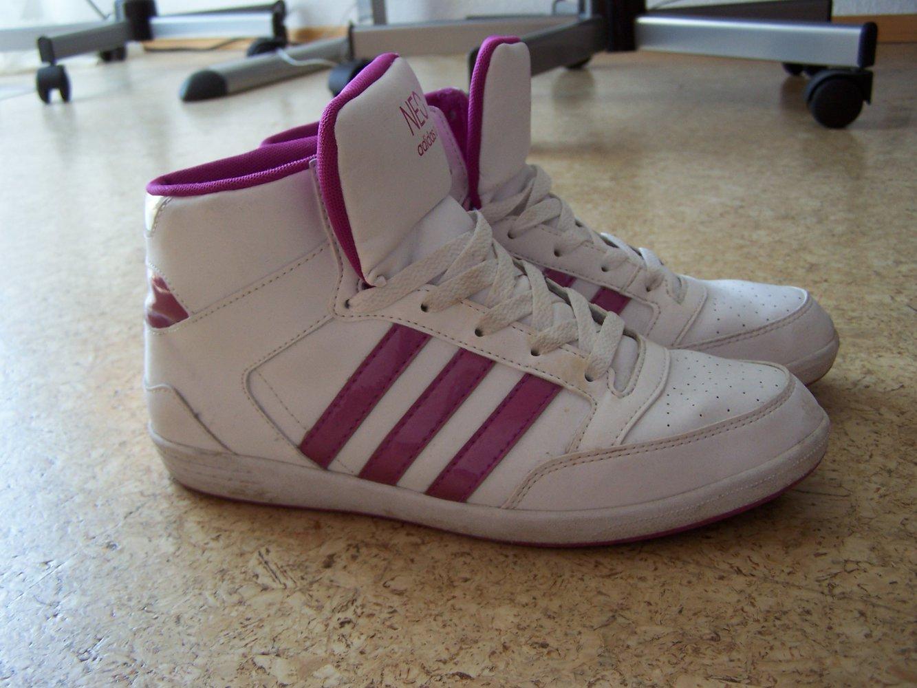 Adidas Neo Courtset Schuhe Damen Core SchwarzWeißShock