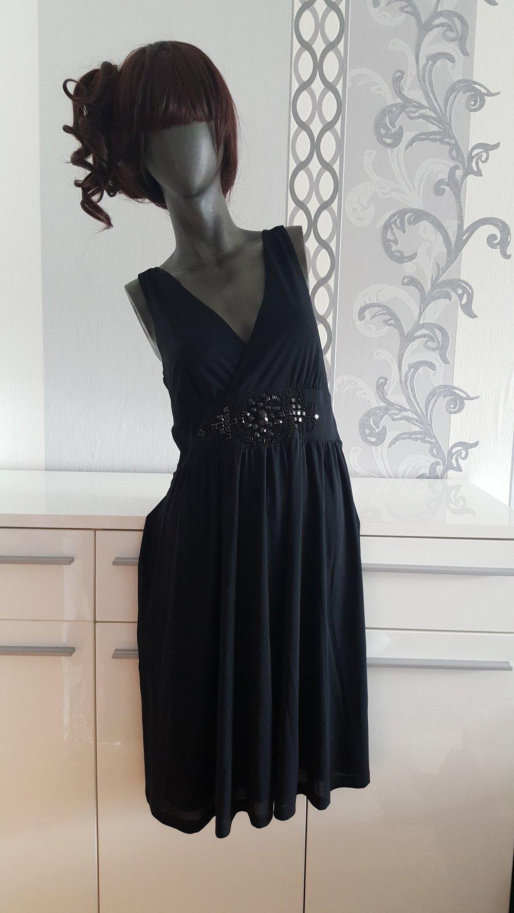Elegantes schwarzes Esprit Kleid Hochzeit besondere Anlässe 12 12 L XL  evtl. 12 da dehnbar Farbe