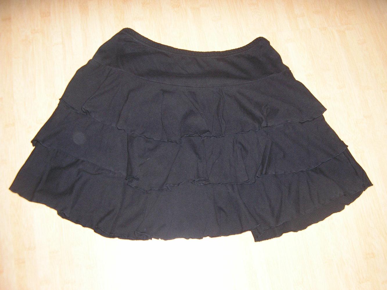 new styles 7a234 37127 knielanger, schwarzer Falten-Rock Gothic