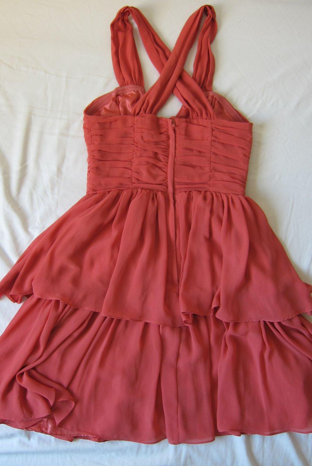 rotes kleid kurz von h&m größe 34 sommer