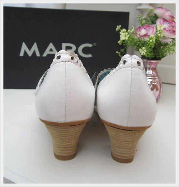 marc echtleder sandalen mit absatz spangen pumps. Black Bedroom Furniture Sets. Home Design Ideas