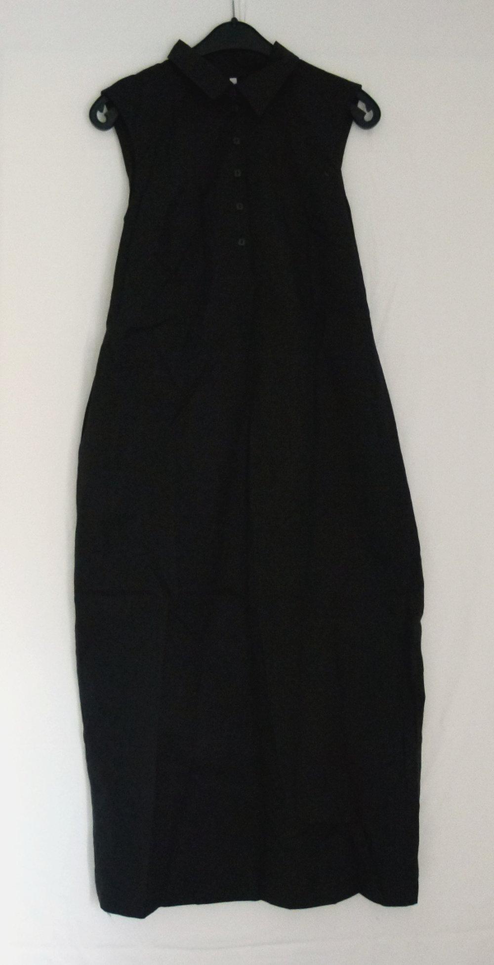 sportliches blusenkleid maxi kleid, schwarz, lang, sommer gothic boho mori  alternative goa festival lagenlook