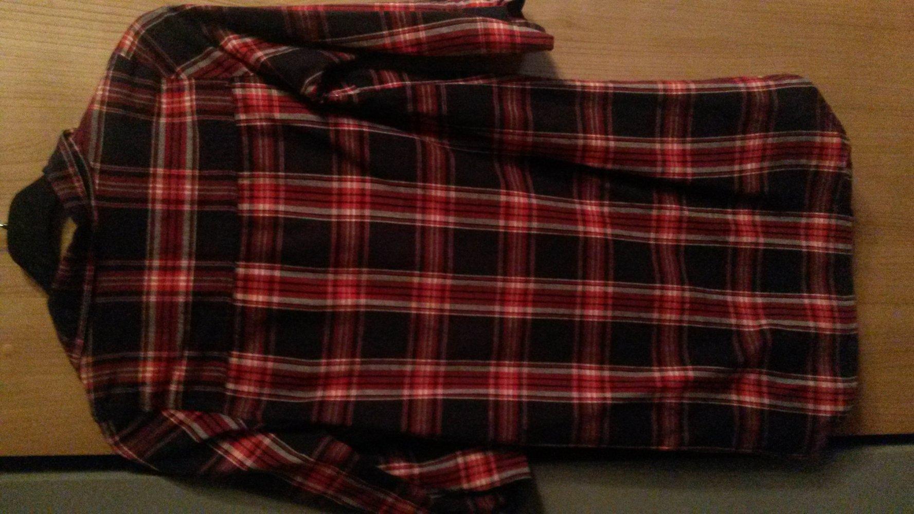 vero moda blau rot kariertes l ngliches hemd. Black Bedroom Furniture Sets. Home Design Ideas