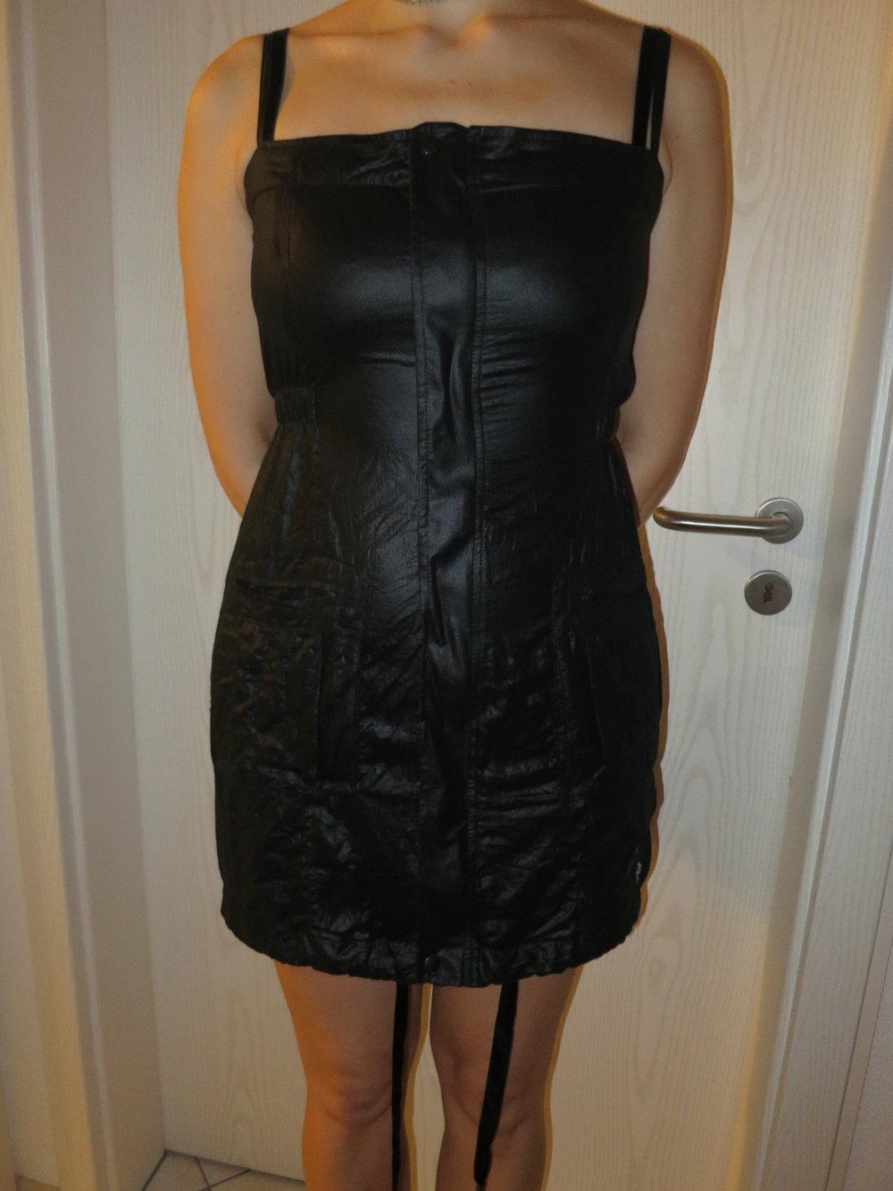 0a903e6fa8519a ... Neues elegantes Kleid Cocktailkleid in Schwarz Gr 38 mit Trägern .