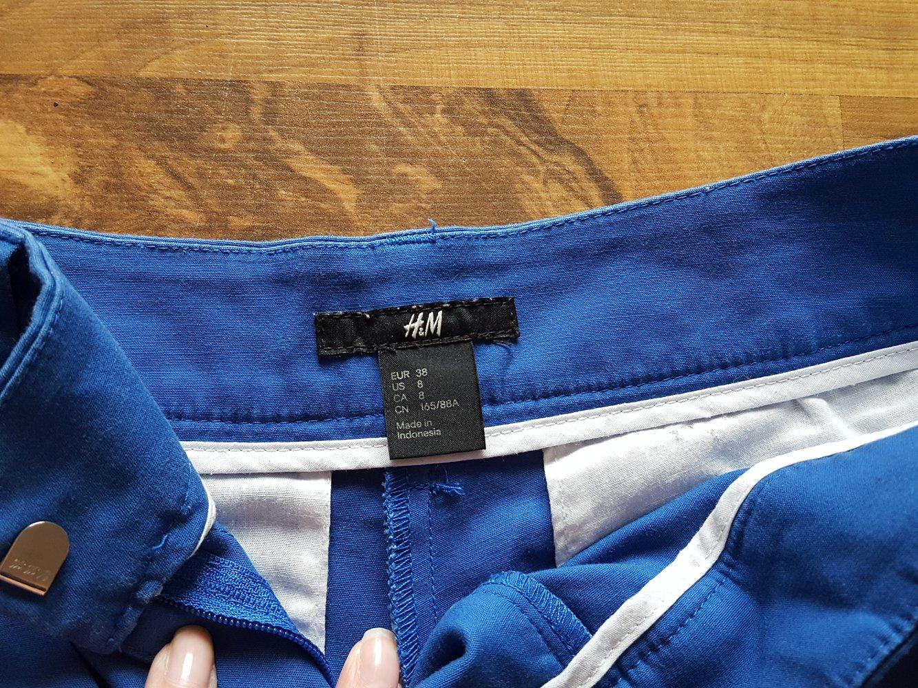 H M, Shorts, kurze Hose, Bermuda, Highwaist, Blau, Gr. 38 ... 73d69b7a08