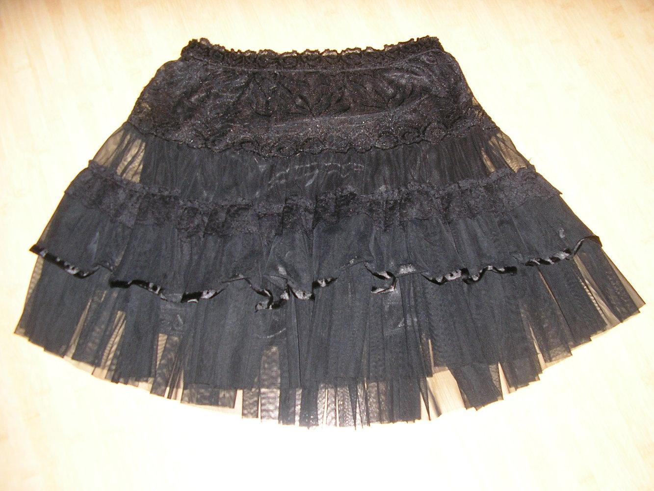 best cheap f8f68 8c4ab knielanger, schwarzer Rock mit schönen Details Gothic
