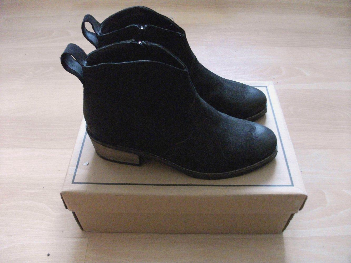 jasper james wildleder western cowboy ankle boots. Black Bedroom Furniture Sets. Home Design Ideas