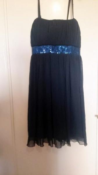 C A Blaues Kleid Mit Glitzer Kleiderkorb De