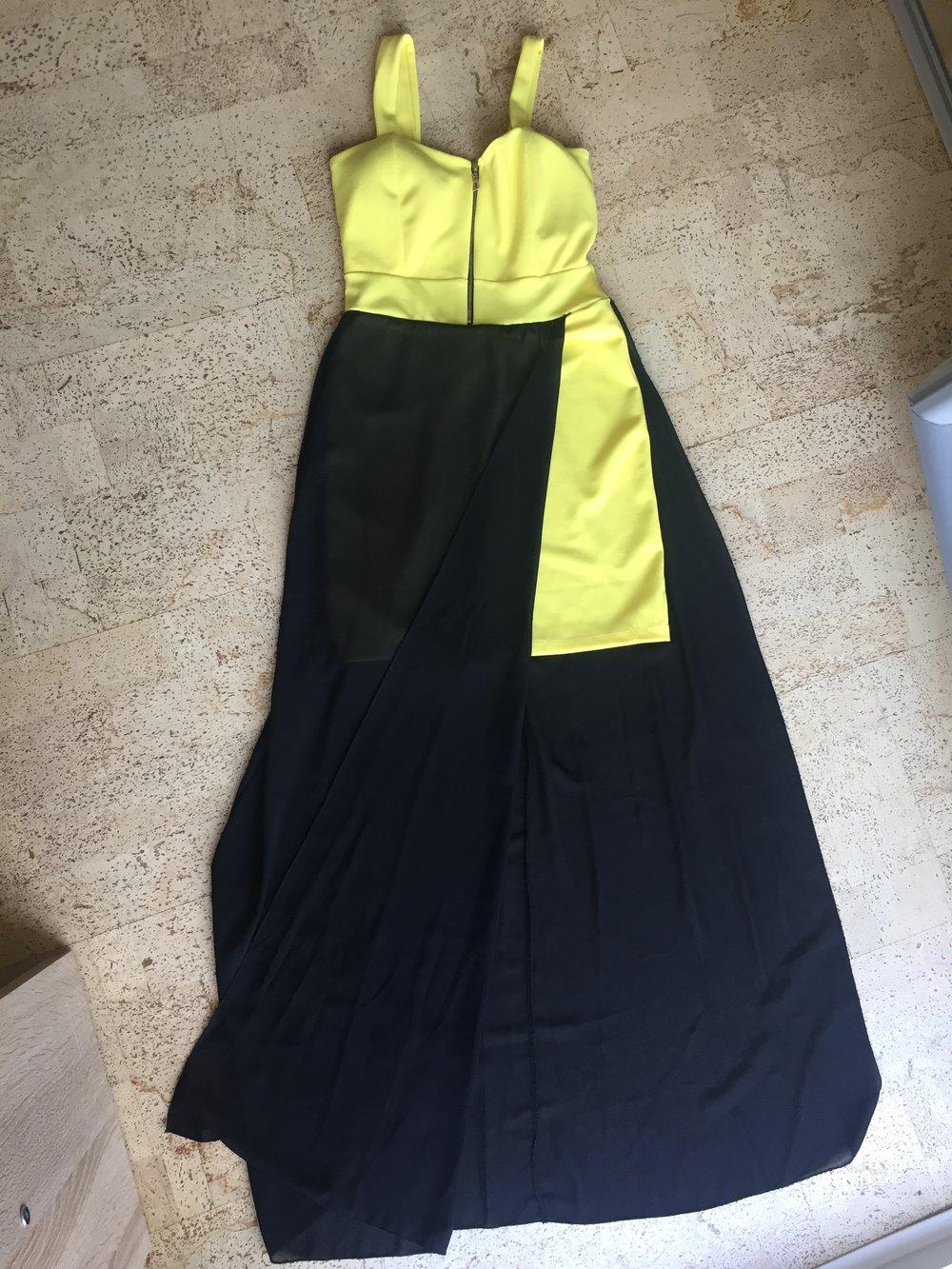 Sommerkleid schwarz gelb