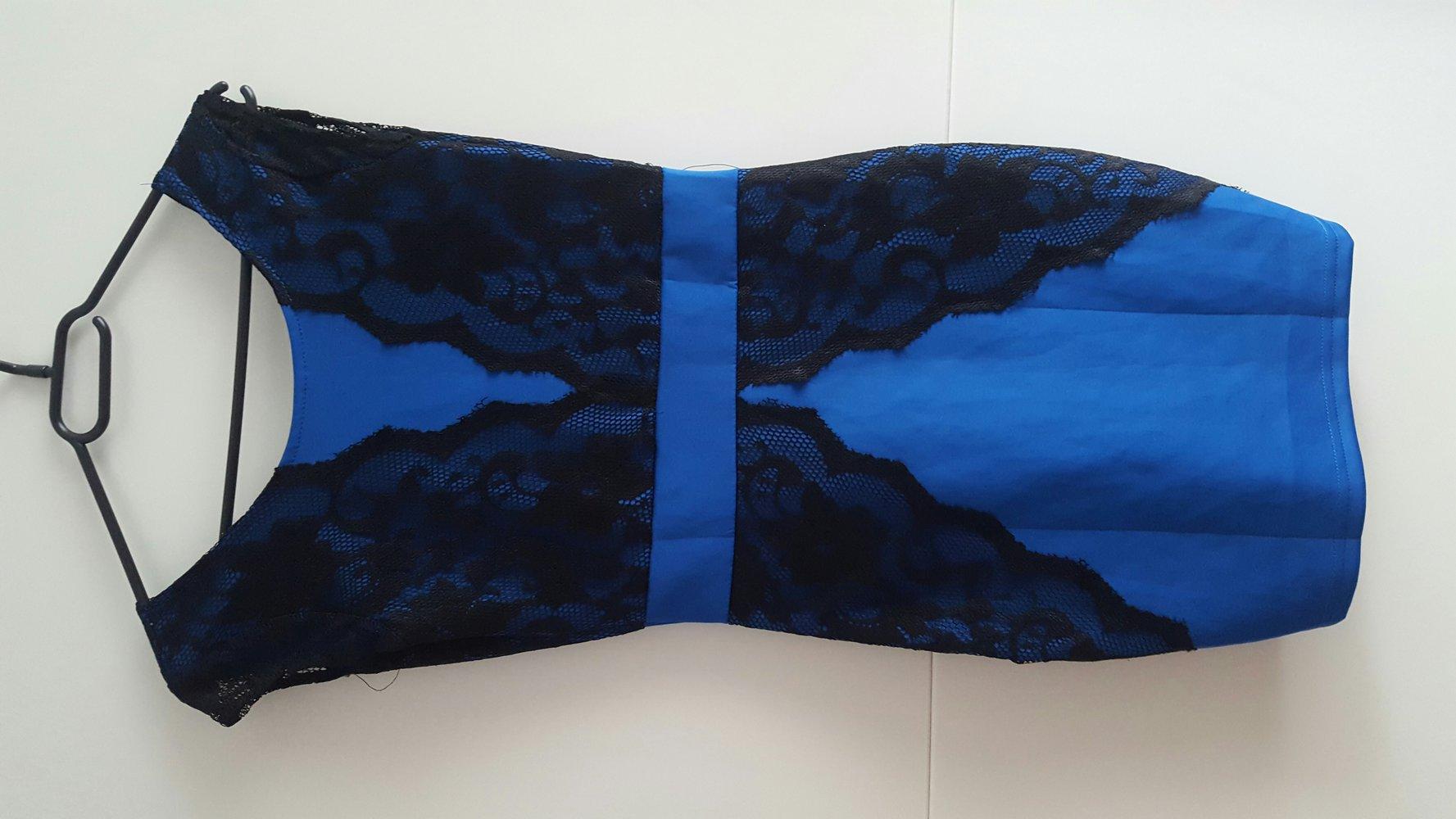blaue schwarzes kleid mit spitze. Black Bedroom Furniture Sets. Home Design Ideas