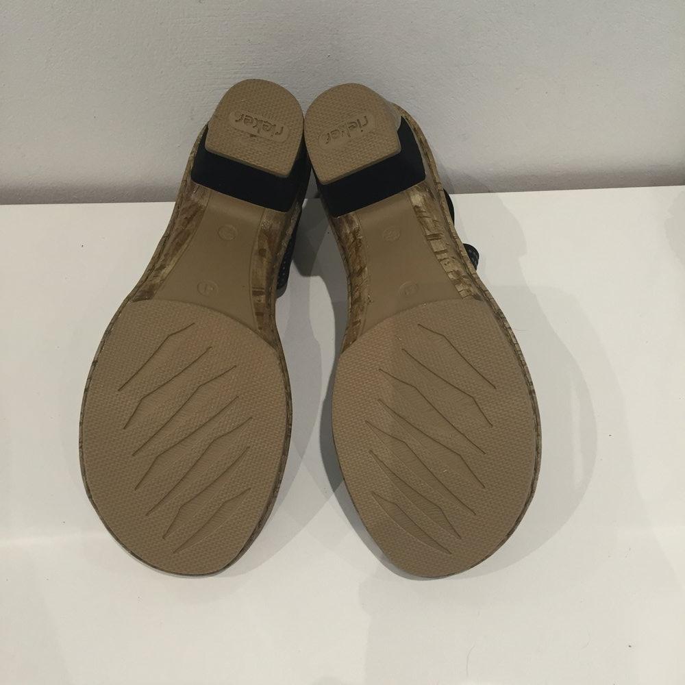 neue rieker sandalen anti stress schwarz gr 41. Black Bedroom Furniture Sets. Home Design Ideas