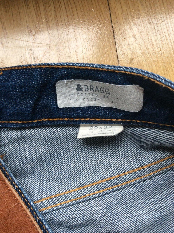 H&M Bragg Jeans Hose Fitted waist straight Leg Herren Größe 29x32 blau neu