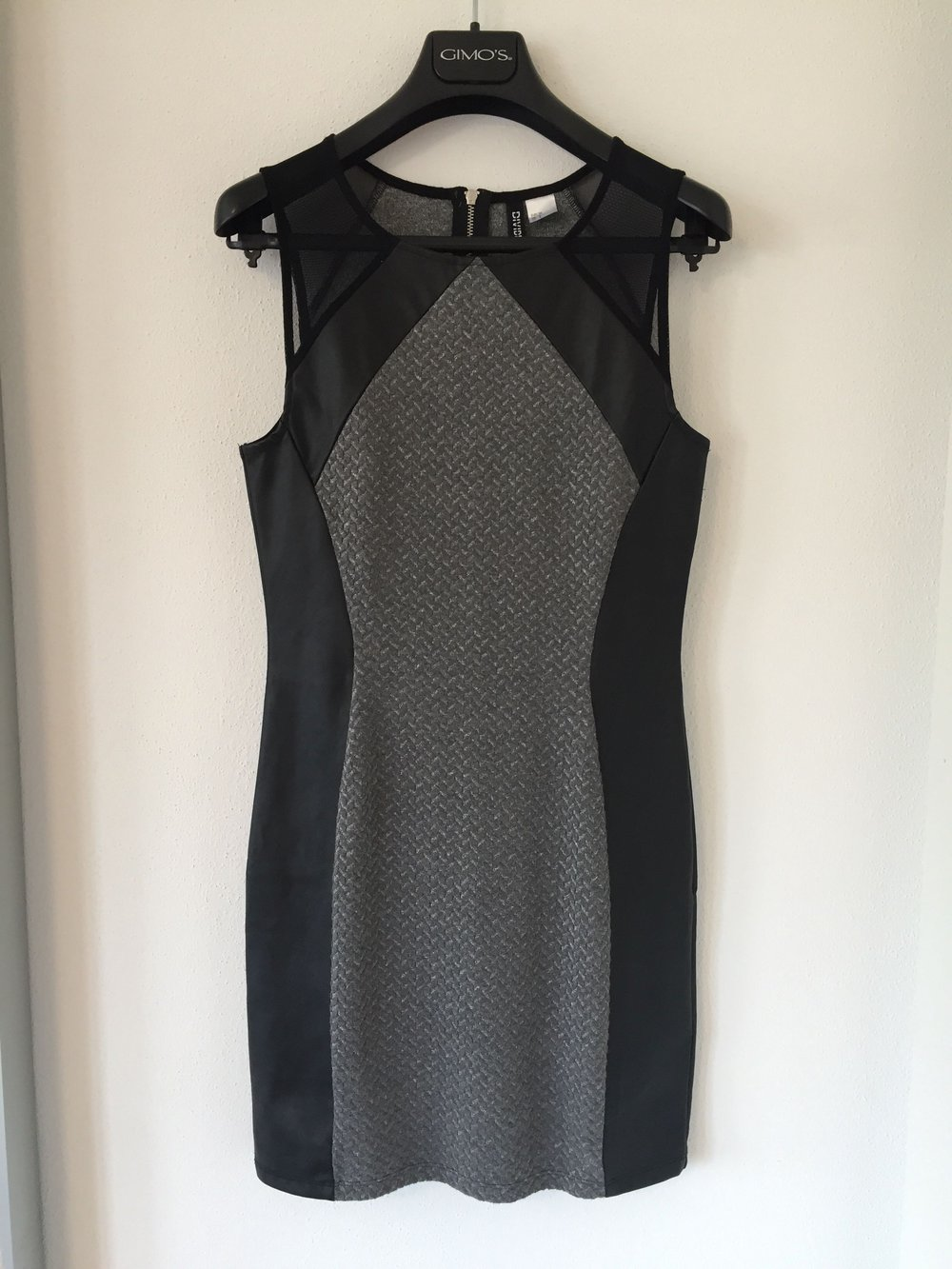 H&M devided - NEU enganliegendes kurzes Kleid | H&M materialmix | Gr ...