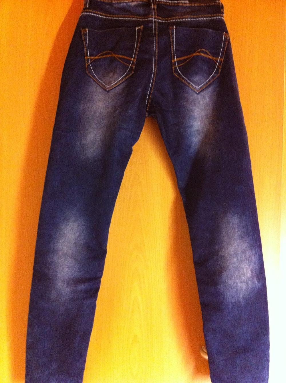 damen jeans hose gr 27 30 mit dicken naehten ziernaehten. Black Bedroom Furniture Sets. Home Design Ideas