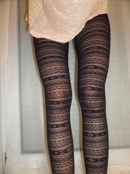 Passion Damen Strumpfhose Mit Muster In Schwarz 11