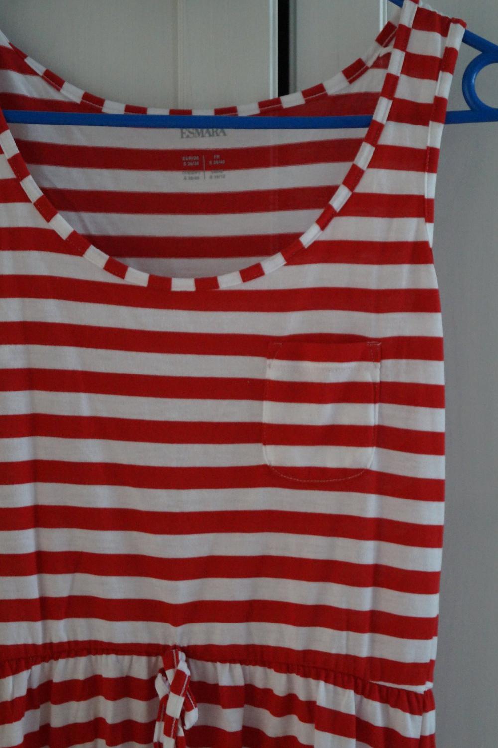 best loved 3f309 4b581 Sommerkleid rot-weiß gestreift, schönes Basic, Kleid