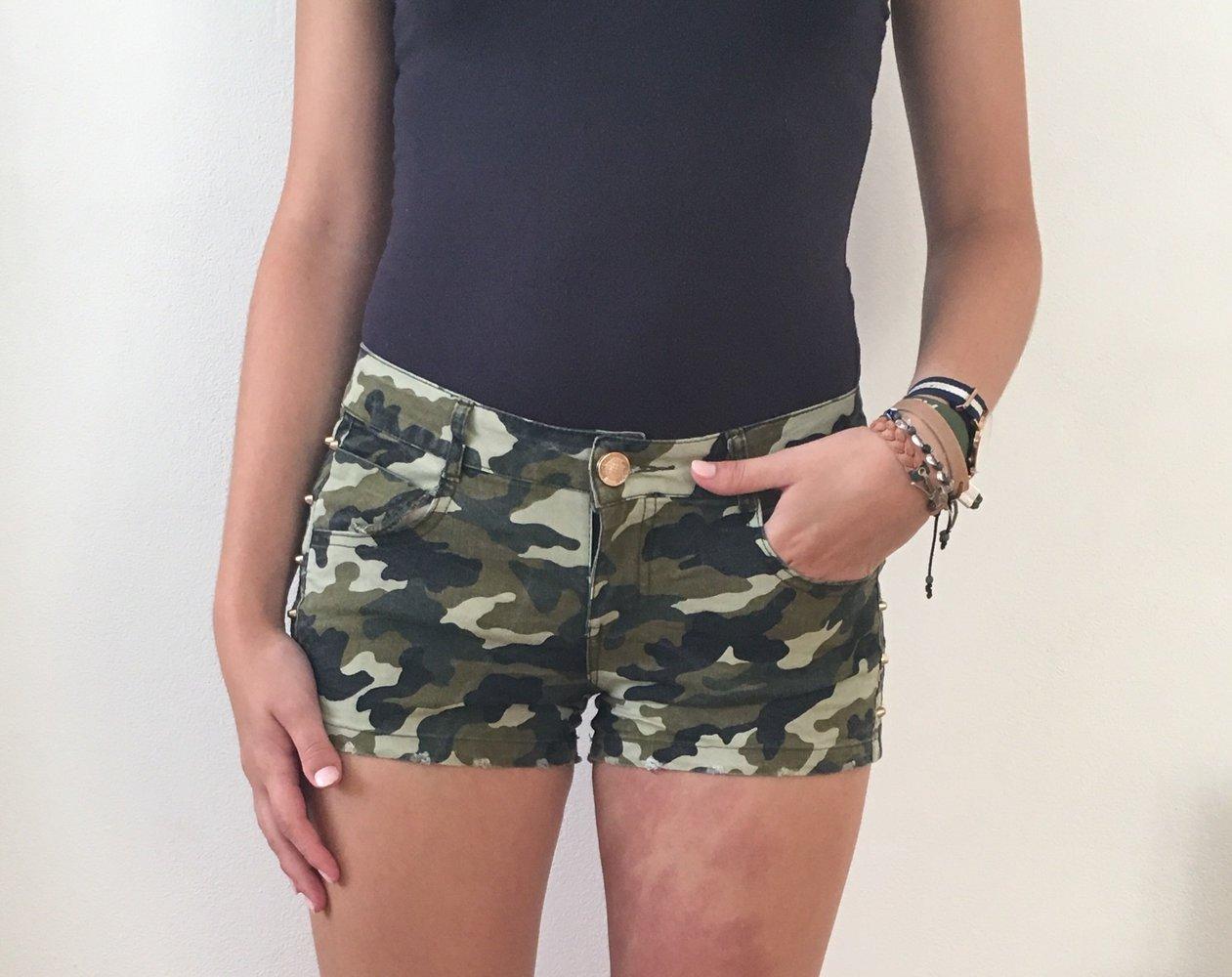 Short kurze Hose in pink weiß mit schönem Muster in Gr M im Boho Ibiza Style