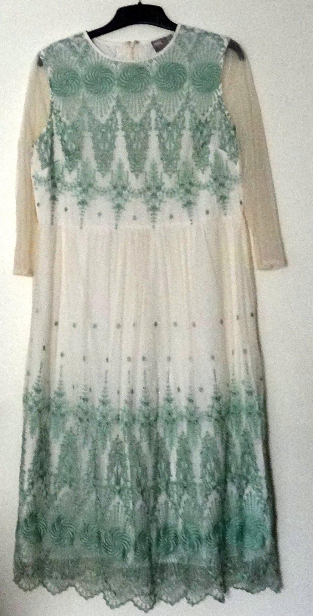 ASOS - Kleid, festlich, cremeweiß, Midikleid, Spitze, Gr ...