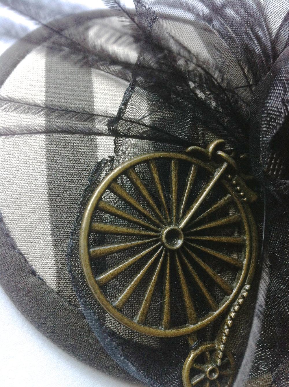 steampunk hochzeit hut fascinator kopfschmuck headpiece. Black Bedroom Furniture Sets. Home Design Ideas
