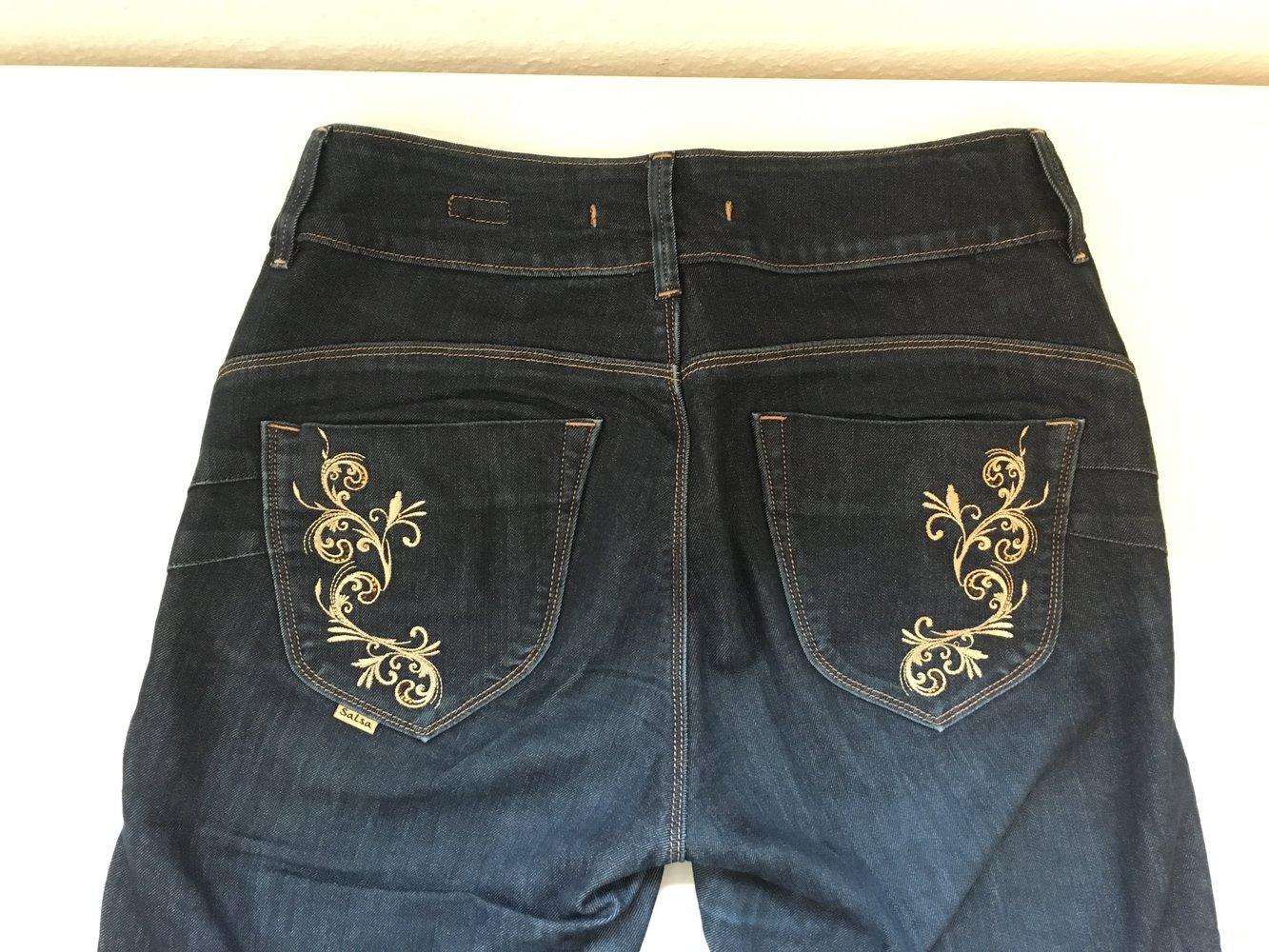 salsa jeans jeans bootcut w30 l34 dark denim hoher bund high rise. Black Bedroom Furniture Sets. Home Design Ideas