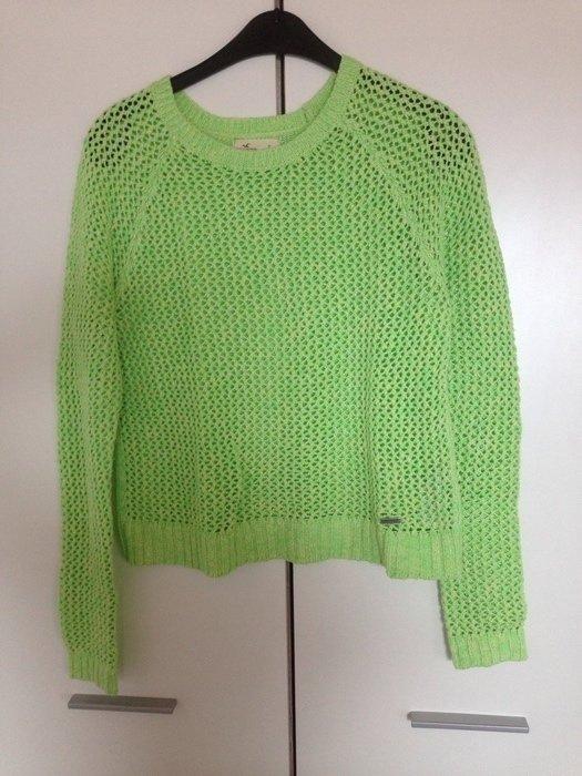 Grüner Hollister Pullover